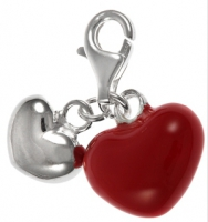 Charms UK | 951701 LC2 Red hearts charm