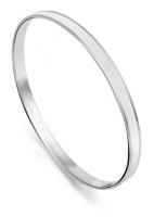 AC33 - Plain Sterling Silver Brushed Arm Candy Bangle