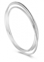 AC41 - Silver Triple Russian Arm Candy Bangle