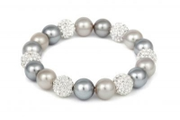 BRPL6C White Crystal and Grey/ Cream Pearl