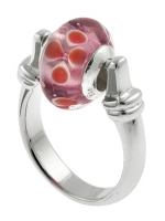 Charm Links Ring with Murano bead