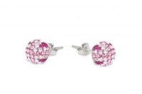 ECUJ11 Fuchsia white and baby pink crystal earrings.jpg