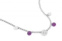NLC0080 Amethyst and white 42cm necklace with extension chain.jpg