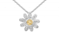 PF015 15mm Gold crystal flower pendant with silver fittings -2.jpg