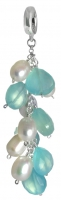 Charms UK | PS2130 Chalcedony and pearl charm