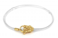 TBR 2147 Sterling silver and gold plated Charmlinks bracelet 19.6cm and 21.5 cm