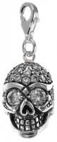 Charms UK | TO4630 Skull charm with cz