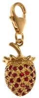Charms UK | Gold plated strawberry charm
