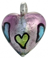 Pink murano glass pendant TP2925 341