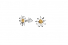 TE5688 GP Daisy 12mm Earrings